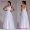 Кружева свадебное платье одно плечо Белый линия кружева длиной до пола свадебное платье