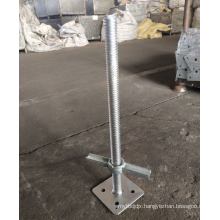 24'' Solid screw jack with base plate for US Frame Scaffold