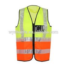 ANSI / ISEA fluorecent chaleco en running chaqueta de desgaste para adultos con certificaciones relacionadas