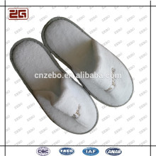 Guangzhou Supplier Disposable White Velour /Terry Slippers/Hotel Slippers Wholesale