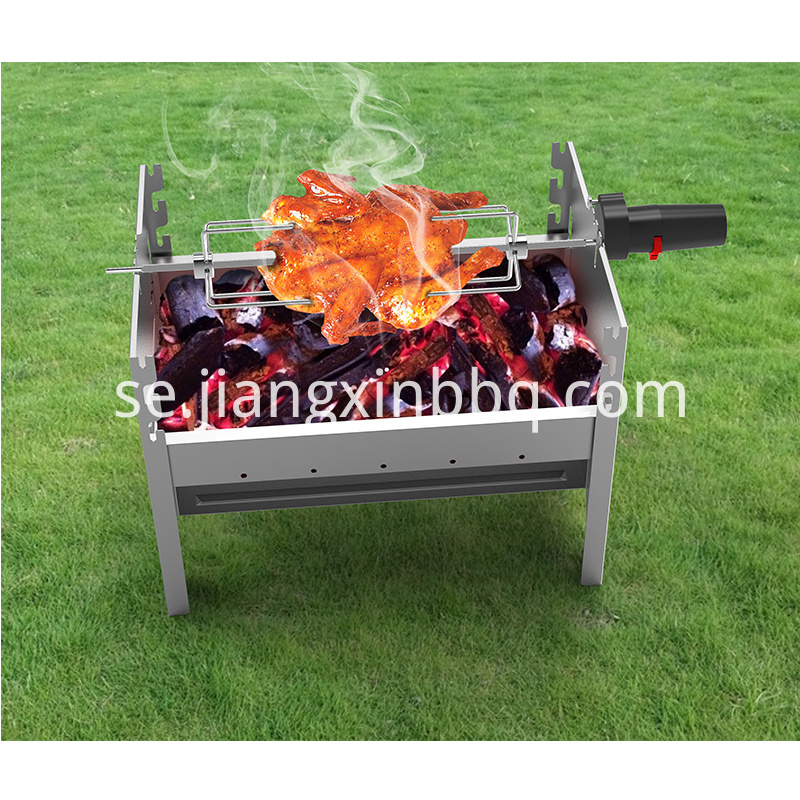 Picnic Grill with Battery Motor Rotisserie kit