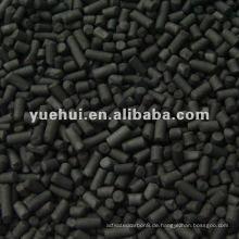 3,0 mm niedrige Asche Zylindrische Aktivkohle auf Kohlebasis für hocheffiziente Adsorption DX30