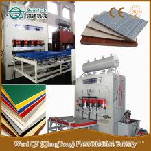 Máquina de la prensa caliente de la madera contrachapada hidráulica de la melamina de la viruta