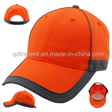 Reflektierende Banding 100% Polyester Neon Farbe Baseball Cap (TMB0686)