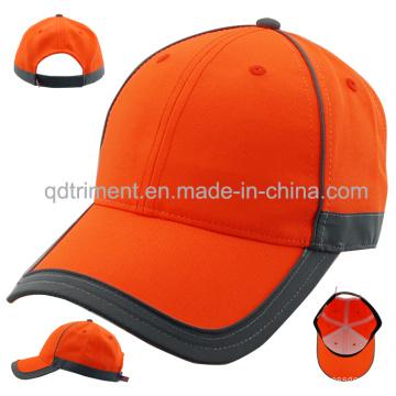 Reflective Banding 100% Polyester Neon Color Baseball Cap (TMB0686)