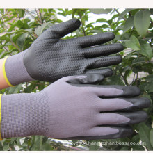 Nitrile Dots Mechanix Gloves Foam Nitrile Gloves Safety Work Glove