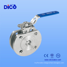 Stainless Steel Wafer End Ball Valve with Handle