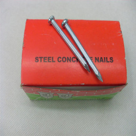 Hardened steel concrete nail for construction