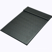 A4 Black Leather Desk Writing Pad / Signature Letter Pad