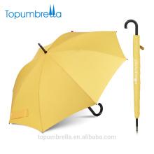 Topumbrella nouvelles inventions mode logo imprimé personnalisé aucune pluie de parapluie droit minimum en Chine