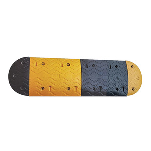 Durable road traffic rubber speed ramp