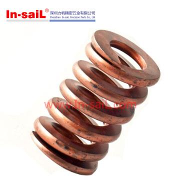 Primavera de torção de mola de compressão de cobre de metal personalizado para peça de automóvel