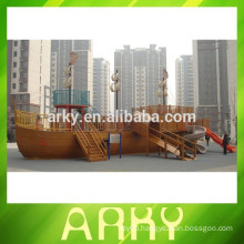 giant Sea Boat Outdoor kids Wood Playground Equipment