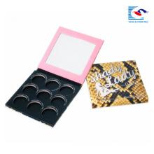 Customized cosmetic empty eyeshadow palette cardboard