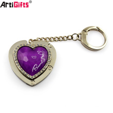 Custom Promotional bulk cheap metal Heart bag holder hook