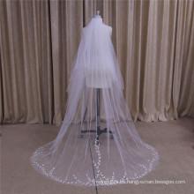 Velo de novia bordado