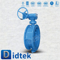 DIDTEK Inspection and test API 598 carbon steel triple eccentric butterfly valve
