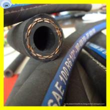 Una manguera hidráulica de trenza de fibra de alta resistencia Manguera de combustible R6 de 3/16 de pulgada