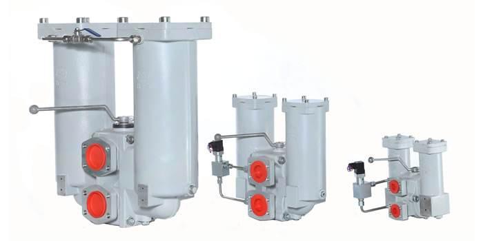 double-barrel return pipeline filters