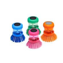 El precio al por mayor de los artículos del hogar cocina el silicón plástico friega el pote del cepillo de limpieza