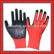 Guantes de nitrilo de punto sin costuras rojos 13Gauge