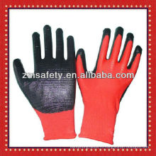 13Gauge Красный бесшовные трикотажные перчатки из Нитрила