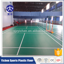 Estera sintética del suelo de los deportes del vinilo de la corte del bádminton de 4.5mm PVC