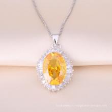 Серебряный Кулон ожерелье с красивая кожа sonte не для подарка дня Валентайн