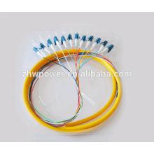 Outdoor 12 Cores fibre optique pigtail Connecteur LC / UPC câble de fibre de câble