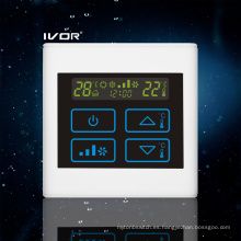 Interruptor táctil del termóstato del acondicionador de aire de 4 tubos en marco plástico (SK-AC2300T-4P)