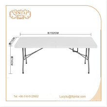 factory price Metal Material outdoor folding table HDPE