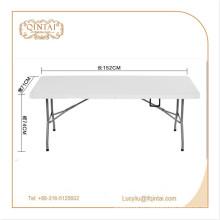 Заводская цена Металл Материал открытый складной стол HDPE