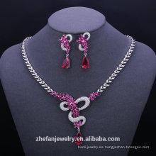 Joyas de oro macizo 24k chapado en oro collar conjunto elegante joyería de moda establece