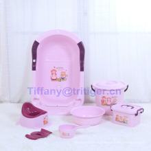New design baby shower basin/soft baby shower basin/popular baby food grade PP material shower tube wholesale