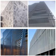 Malla metálica perforada arquitectónica SS o aluminio