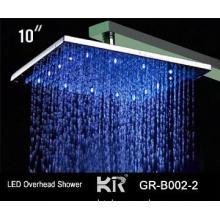 "led overhead shower heads, 8\"" brass shower head"