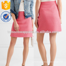 New Fashion Cotton-blend Tweed Summer Mini Daily Skirt DEM/DOM Manufacture Wholesale Fashion Women Apparel (TA5067S)