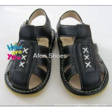 Black Baby Boy Squeaky Sandals (L102 Black)