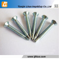 Countersunk Head Self Drilling Screws with Zinc Plated