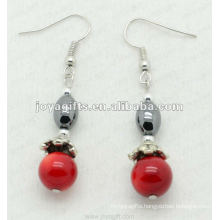 Fashion Hematite Rice Beads Earring