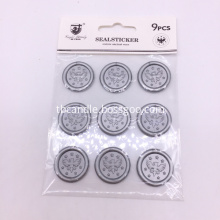 Monogram wax seal stickers for wedding use