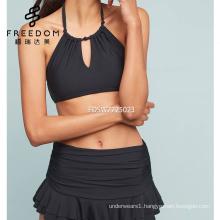 Customized ruffled skirt bikinis woman swimwear hot and sexy desi girls picture swimwear