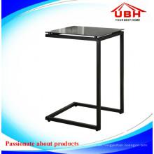 Mesa moderna de la barra de café de cristal