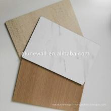 Stricte contrôle de qualité en bois texture acp 3mm panneau composite en aluminium
