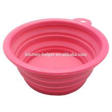 Grado de alimentación a la moda respetuoso del medio ambiente impermeable pet bowl cuenco de silicona gato / colapso Pet Dog Cat Bowl