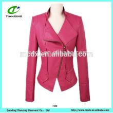 2015 nouvelle veste en cuir féminin slim femme