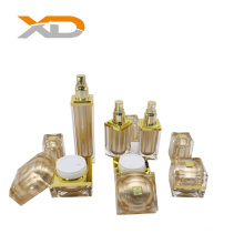 new design luxury square  thick wall acrylic lotion bottles and jars