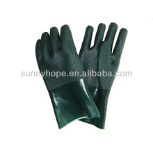 sandy finished PVC coated gloves