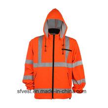En ISO 20471 Sudaderas con capucha reflectante de seguridad con sombrero