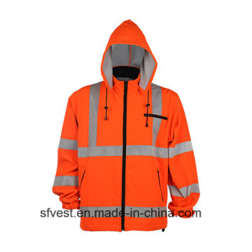 En ISO 20471 Hoodies Reflexivos de Segurança com Chapéu